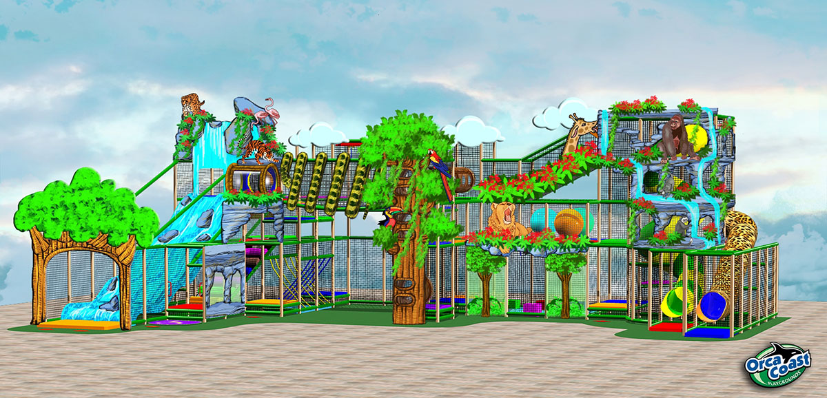 Indoor Themed Playground Design by Orca Coast Playground Manufacturer